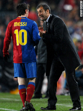 Guardiola's dedication to an approach known as &quot;tiki taka&quot; -- a fluent passing style based around dynamic movement -- was immediately evident, as players like Xavi and Andres Iniesta, both World Cup winners with Spain in 2010, flourished. Guardiola also maximised the use of a young striker called Lionel Messi, who would go on to break all records.