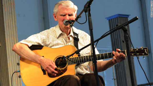 Doc Watson performs at the 2009 New Orleans Jazz & Heritage Festival.