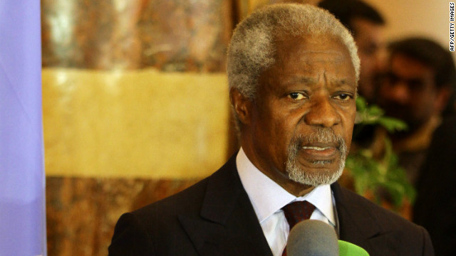Annan: Syrian suffering 'must end and it must end now'