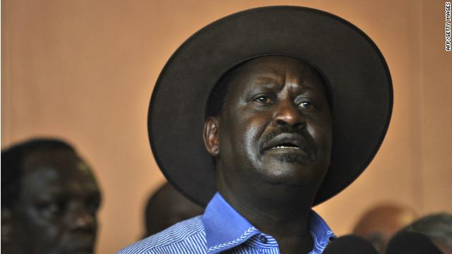 Kenyan Prime Minister Raila Odinga said he believes the blast was an