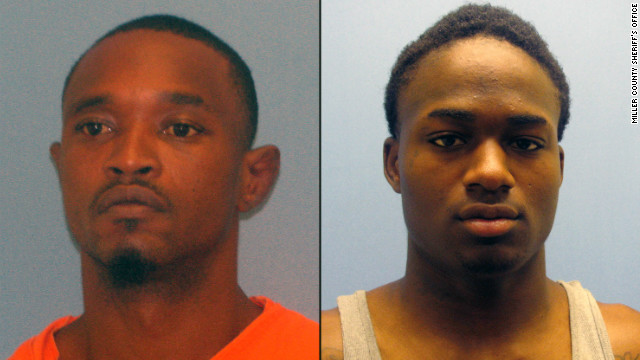 Quincy Vernard Stewart, left, escaped with Cortez Rashod Hooper, right.