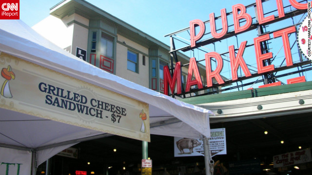 CNN's Ashley Preskar says Seattle's Pike Place Market is much more than your ordinary farmers market. Watch out for the flying fish!