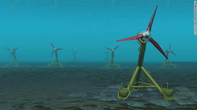 If all tests go to plan, Scottish Power will install 10 turbines in the Sound of Islay in Western Scotland.