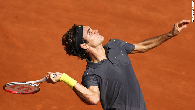 Roger Federer's victory in the first round of the French Open was his 233rd in major championships
