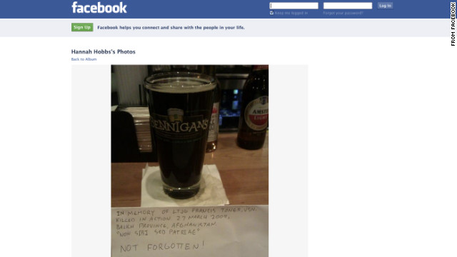 Toast to fallen sailor goes viral