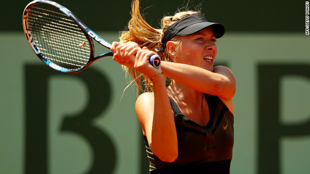 Maria Sharapova is seeking to win her first French Open title and in the process, complete a career slam