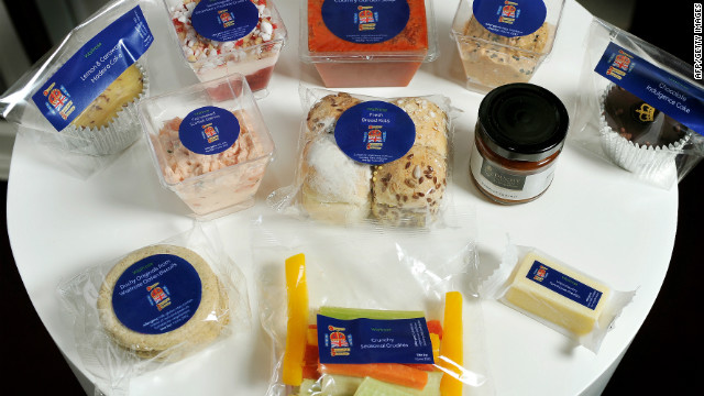 The contents of the Diamond Jubilee concert picnic. British celebrity chef Heston Blumenthal and Royal Chef Mark Flanagan collaborated on the contents of the picnic hamper that invited guests will be treated to during the Buckingham Palace garden party on June 4 event.