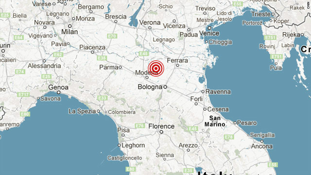 MAP: ITALY EARTHQUAKE