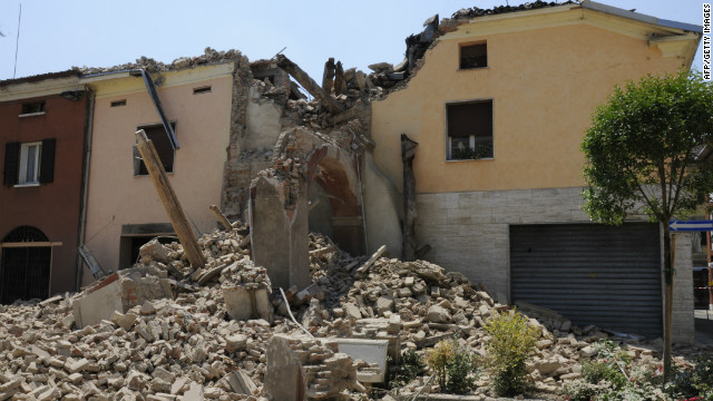 This tower collapsed in the quake on May 29, 2012. The earthquake rocked northeastern Italy just days after another quake in the same region.