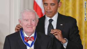Retired Justice John Paul Stevens received the Presidential Medal of Freedom from President Obama.