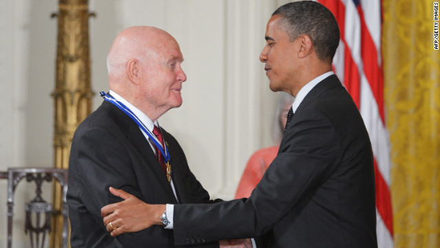 John Glenn's illustrious career as a Marine Corps pilot, astronaut and U.S. senator included being the first man to orbit the earth.