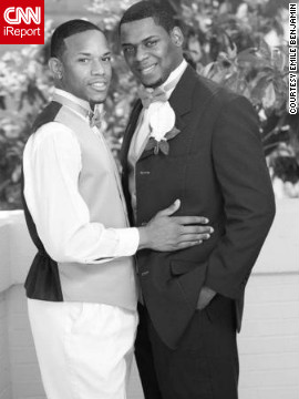 Ra'Shawn (right) and Kelvin Barlow-Flournoy combined their last names after marrying last year at Howard University School of Divinity in Washington. They married during a Sunday service that was streamed online and viewed by more than 400 people. Both are pastors, and Ra'Shawn is an HIV prevention coordinator for a church in Charlotte, North Carolina.