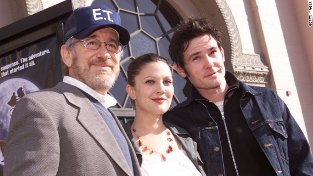 Steven Spielberg, Drew Barrymore and Henry Thomas at the 20th anniversary of