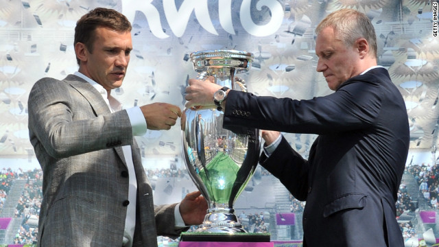 Ukraine legend Andriy Shevchenko (left) will be taking part in his final international tournament and the former AC Milan striker will be hoping to go out with a bang in front of his home fans.