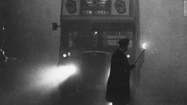 But finding a London call box in 1952 could be a hazard. The great smog of 1952 killed 4,000 people.