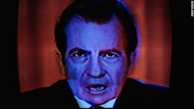 Richard Nixon, who resigned as president after the Watergate scandal, famously said during a 1973 press conference: &quot;In all of my years in public life, I have never obstructed justice...People have got to know whether or not their president is a crook. Well, I'm not a crook.&quot; Source