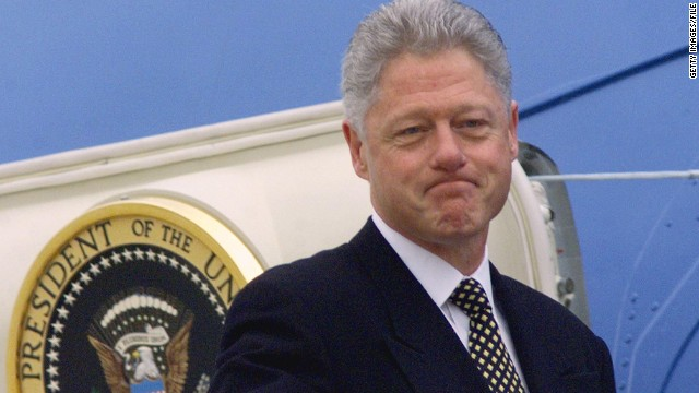 "Bill Clinton, who was impeached in 1998 and then acquitted by the Senate, narrowly denied having ""sexual relations with that woman,"" former intern Monica Lewinsky."