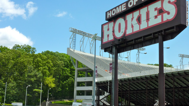 Behind Lane Stadium on Virginia Tech's campus sits 11 acres of trees known as 'stadium woods.'