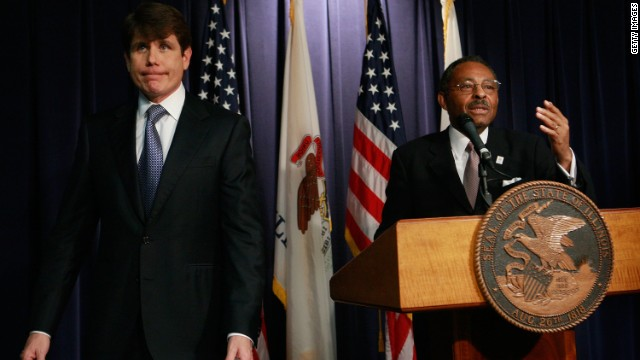 "<strong>Rod Blagojevich,</strong> the one-time Illinois governor who was convicted of political corruption charges, left, denied he tried to sell a vacant U.S. Senate seat once held by Barack Obama: ""I will fight until I take my last breath. <a href='http://www.cnn.com/2008/POLITICS/12/19/blagojevich.speaks/index.html?_s=PM:POLITICS'>I have done nothing wrong</a>."""