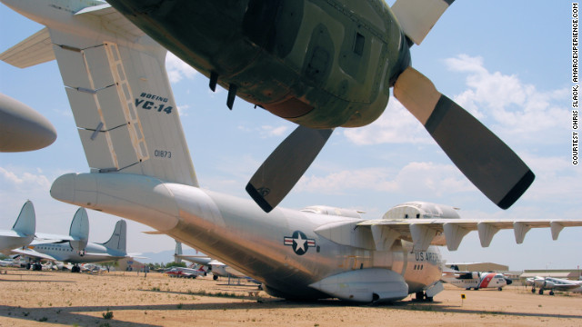 Right next door to Davis-Monthan Air Force Base, Pima Air & Space Museum has more than 300 exhibits, including this rare Boeing YC-14 which was designed to land at speeds as low as 99 mph, <a href='http://www.pimaair.org/collection-detail.php?cid=39' target='_blank'>according to the museum website</a>.