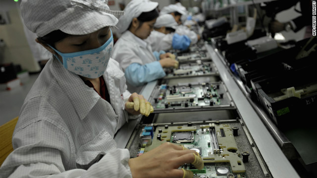 Foxconn disputes reports student interns are forced by schools to work on assembly lines.