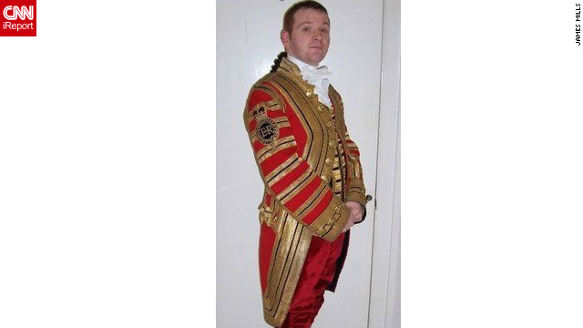James Mills poses in the uniform he wore while working for the queen from 2002 to 2006. Mills, from Scotland, says: &quot;I had some fantastic memories from my time including dancing the St. Bernard's Waltz with the queen at the 'Ghillies Ball' -- a dance held at Balmoral Castle. Mills also attended the wedding of Prince Charles and Camilla at Windsor Castle, the queen's 80th birthday party, and met President George W. Bush during a state visit in November 2003.&quot;