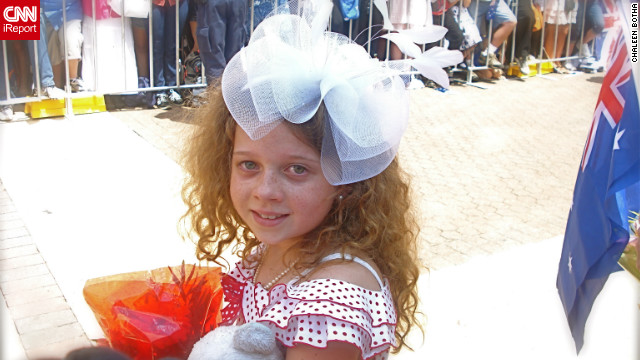 Tatum Botha, then aged nine, waits to meet the queen in Brisbane, Australia on October 24, 2011. Tatum had previously written to the queen and wanted to meet her for as long as she could remember, mom Chaleen Botha told CNN.