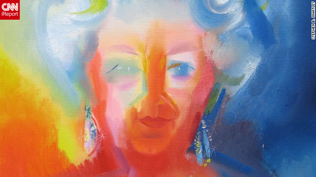 A portrait of the queen by expressionist painter Stephen B. Whatley. Whatley, who has completed several works for the Royal Collections, says he made the queen laugh when he told her how he was locked in the Tower of London to paint the Crown Jewels. &quot;As she moved away, she looked over her shoulder and said: 'I'm pleased they let you out.'&quot; He adds: &quot;She came across with a great humility, open-heartedness and willingness to learn.&quot;