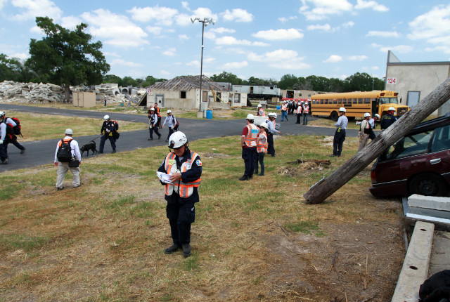 Disaster City includes wrecked vehicles and demolished buildings -- perfect for training the members of Texas Task Force 1.