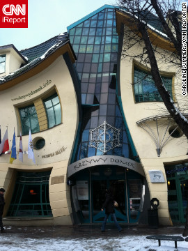 The psychedelic shapes of the &quot;Crooked House&quot; -- or Krzywy Domek to give its Polish name -- in the northern city of Sopot caught the attention of iReporter Caroline Summers during a visit as an exchange student in 2011. 