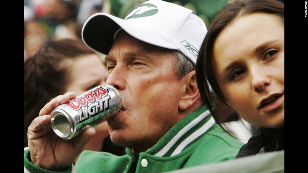 bloomberg drinking beer