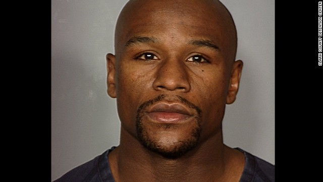 Boxer Floyd Mayweather was booked into the Clark County, Nevada, Detention Center. 