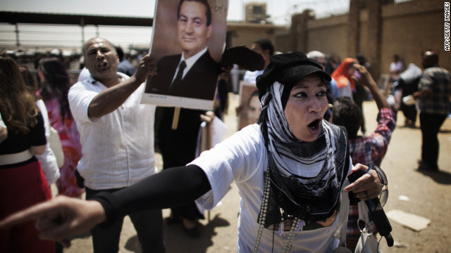 Mubarak's supporters react to news of the guilty verdict.