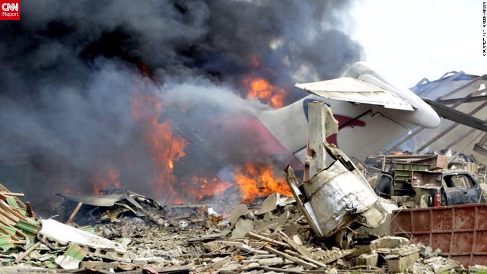 An airliner carrying 153 people crashes on Sunday, June 3, in a residential neighborhood in Lagos, Nigeria's most populated city. There were no survivors.