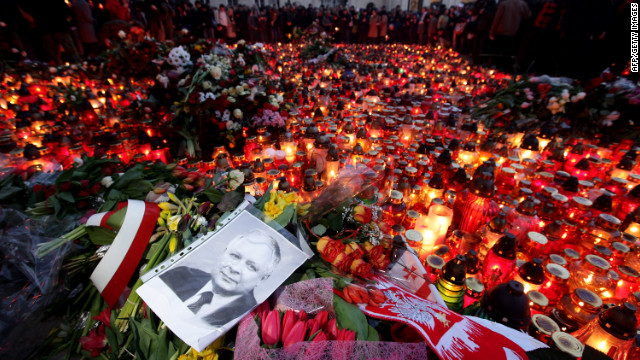 A plane carrying Polish President Lech Kaczynski crashes as it tries to land at an airport near the Russian city of Smolensk on April 10, 2010. Kaczynski was among the 97 people killed.