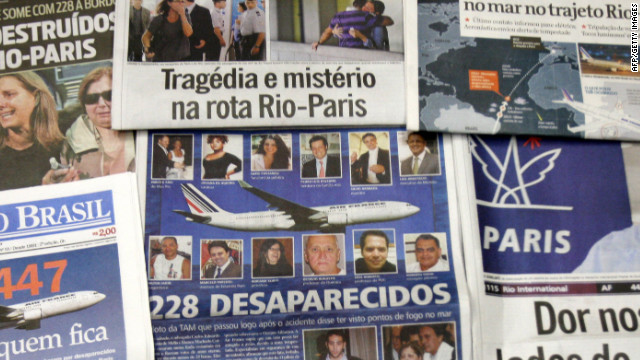 An Air France flight carrying 228 people disappeared from radar over the Atlantic Ocean on June 1, 2009. The Airbus A330 took off from Rio de Janeiro bound for Paris and sent out an automatic signal warning of electrical problems.
