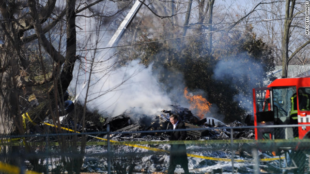 A Continental Airlines flight bound for Buffalo, New York, crashed into a house on February 13, 2009, killing all 49 aboard the plane and one on the ground. Two occupants of the house survived.