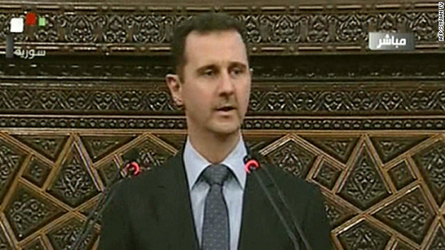 Syrian President Bashar al-Assad, pictured here on June 3, 2012, lambasted the Turkish Prime Minister for interfering in Syrian internal politics.