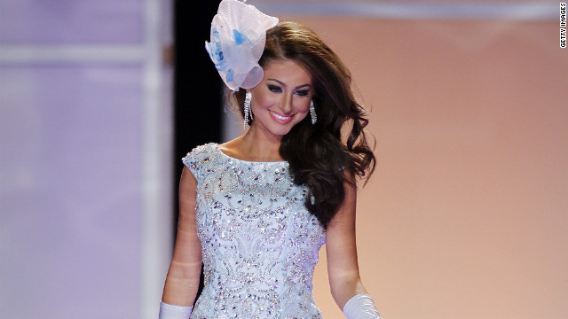 Karina Brez, Miss Florida, walks the stage during the opening fashion show.