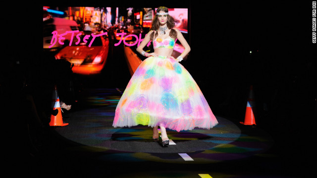 A model walks the runway at the Betsey Johnson Spring 2011 fashion show in New York City.