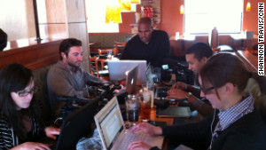 CNN\'s Shannon Travis, center, has spent much of the past 8 months on the road with the campaigns.