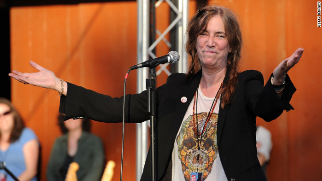Patti Smith, shown here performing in 2011. 
