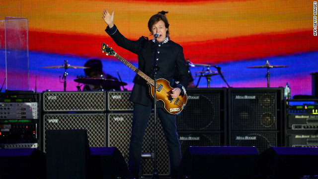 Former Beatles singer Paul McCartney headlines at the queen's diamond jubilee concert. McCartney kicked off his set with &quot;Magical Mystery Tour.&quot;