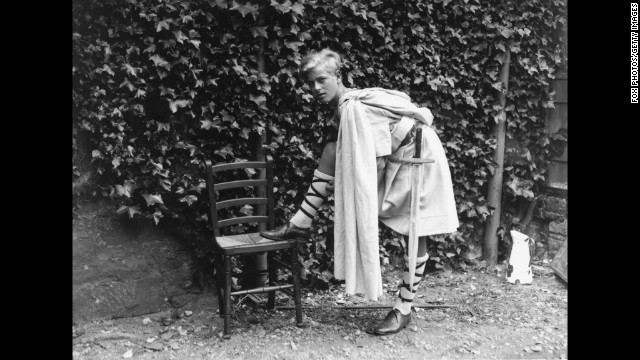 July 1935: Prince Philip of Greece in Scotland dressed for the Gordonstoun School's production of