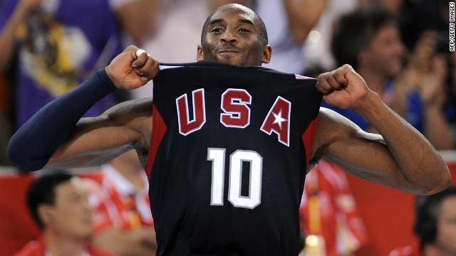 Kobe Bryant helped the U.S. men's team win basketball gold at the 2008 Olympics in Beijing.
