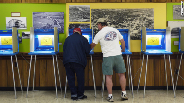 Residents in Beloit, Wisconsin, vote in the recall election Tuesday.