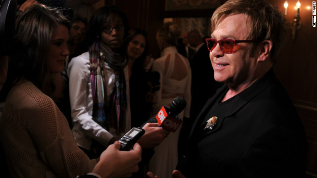 Adorable of the day: Elton John frets over Gaga