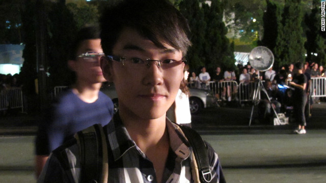 "Michael Pang, 17, has attended the vigil for the past three years out of a sense of civic responsibility. ""Even though I wasn't alive during June 4, we need to take the initiative to stand up for our rights and tell our citizens that we have the responsibility to say no to the Chinese Communist Party."""