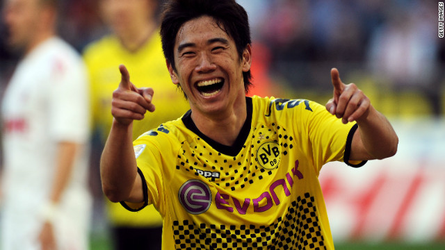 Japanese international Shinji Kagawa joined Borussia Dortmund in 2010.