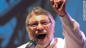 President Fernando Lugo addresses a crowd in Asuncion, Paraguay, on February 3.